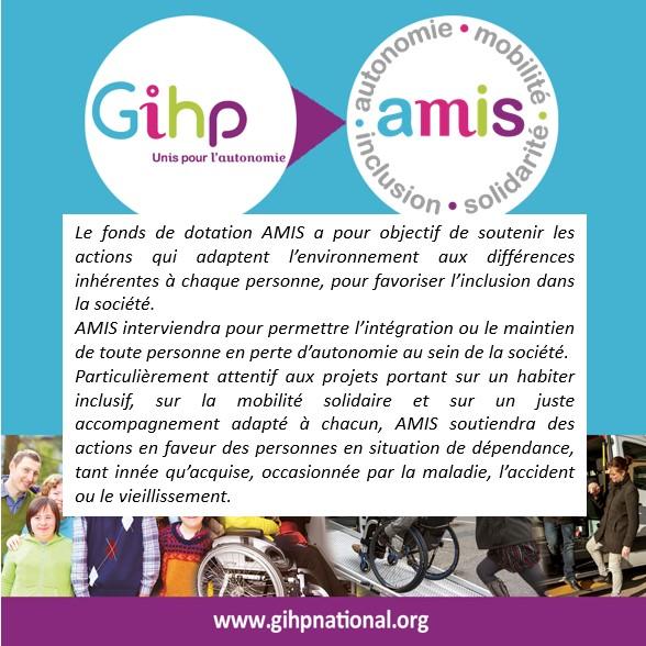 BEAKING NEWS ! Le Réseau GIHP Crée Le Fonds De Dotation AMIS Pour Soutenir Les Associations De Solidarité.